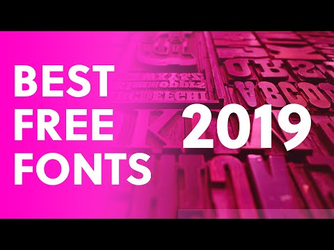 7 Amazing FREE Fonts For LOGOS 2019.