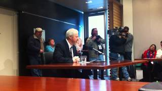 Seattle Mayor Mike McGinn on Ian Birk charging decision in John Williams case (Feb. 16, 2011)