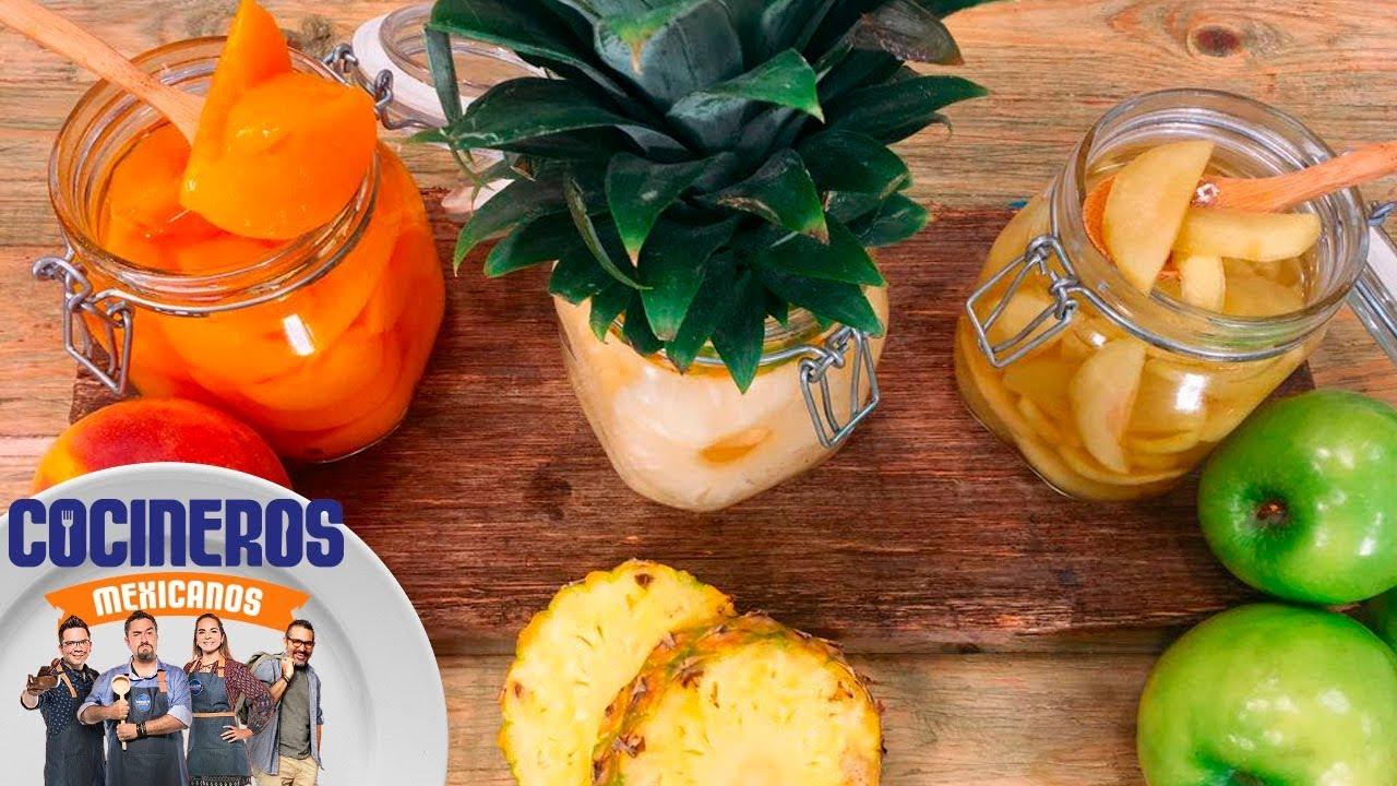 Receta: Frutas en almíbar | Cocineros Mexicanos