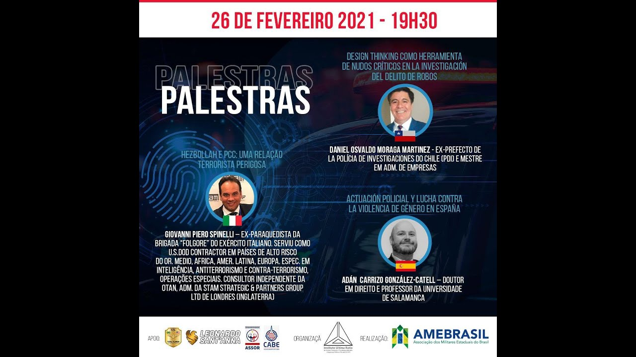 Quinto dia do 1º Congreso Internacional On-line de Ciencias Policiais.