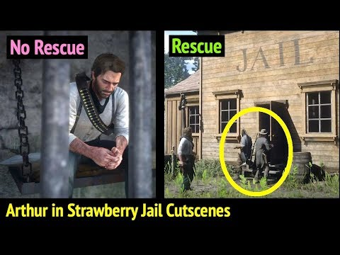 Arthur Rescued From Strawberry Jail in Red Dead Redemption 2 (RDR2): John Marston and Charles Smith thumbnail
