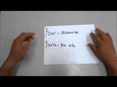 Your VS. You're-English Grammar Lesson