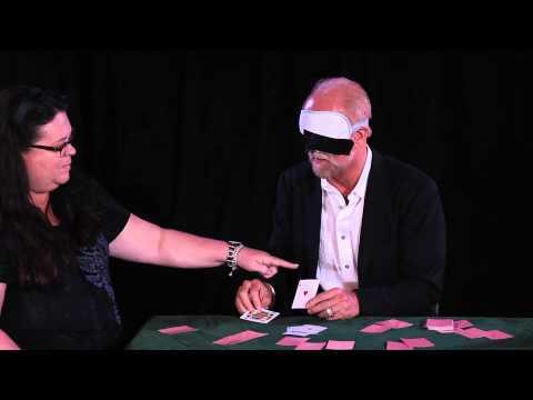 Richard Turner Performs Blindfolded