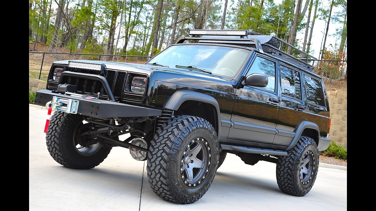 davis autosports fully built stage 4 lifted cherokee xj sport for sale youtube. Black Bedroom Furniture Sets. Home Design Ideas