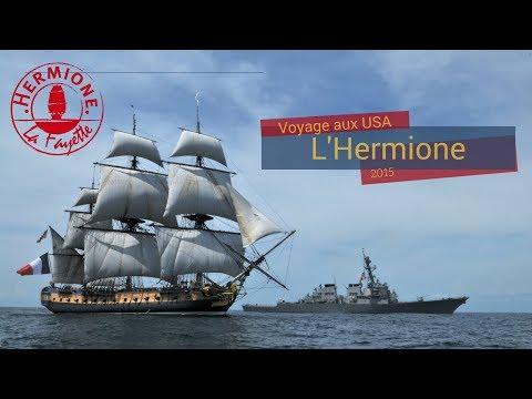Arrivée aux USA : rencontre entre L'Hermione et l'USS Mitscher