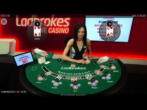 Late night Black jack session @ ladbrokes casino.