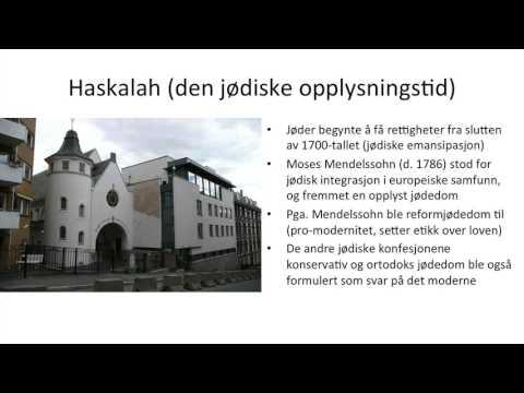 Jødedommen Fra Middelalderen Til I Dag (ulike Retninger)
