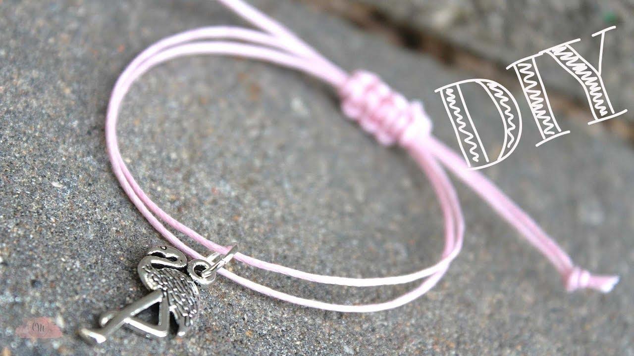 DIY | Armband mit Schiebeknoten Makramee Verschluss ...