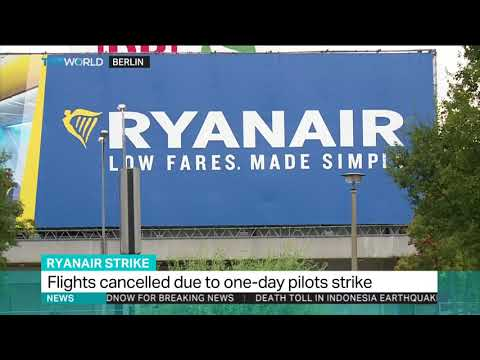 Ryanair flights cancelled due to one-day pilot strike