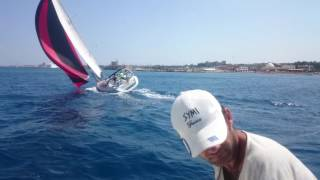 broaching just meters before the finish line - Rodos Cup 2016