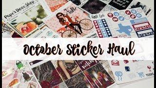 October Sticker Haul!!