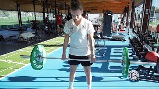 Athletiktraining mit Linda Dallmann