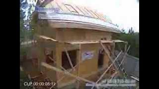 Проект 17(Вся работа по возведению стен, полов, крыши заняла 20 дней, бригада 4 человека. Дом из сэндвич панелей, утеплит..., 2014-01-14T10:12:51.000Z)