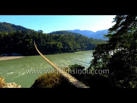 Aerial view of Brahmaputra river : truly Incredibly beautiful India