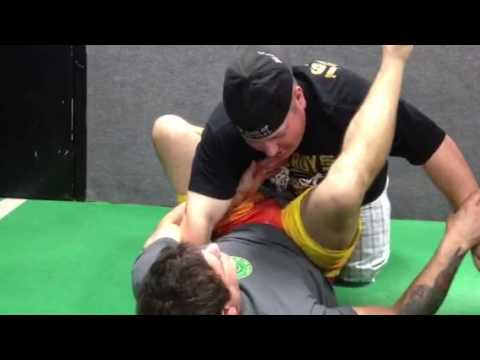 Comedian Colin Moulton puts Hacker in a submission hold!