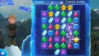Frozen Free Fall: Gameplay Elsa Playing Hundreds Of Icy Puzzle level 2-7