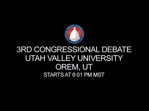 3rd Congressional District Debate at Utah Valley University