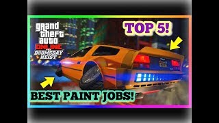 TOP 5 AWESOME PAINT JOBS FOR THE NEW FLYING CAR (DELUXO) | GTA V ONLINE!