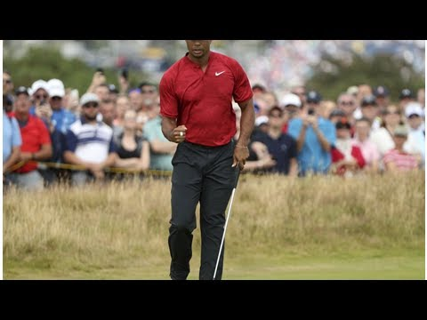 86fa0dca62a31d The Latest  Woods drops out of lead at British Open - YouTube