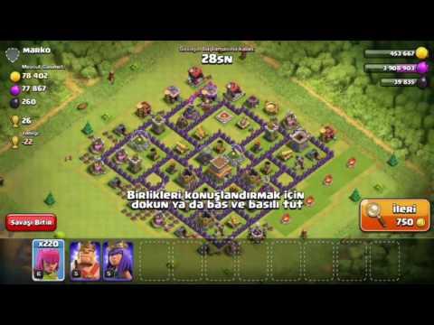 Clash Of Clans 100 Level Hesap Çekilişi !!!!