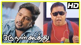 Oru Naal Koothu Tamil movie   scenes   Title Credits   Dinesh upset about Nivetha's marriage   Mia