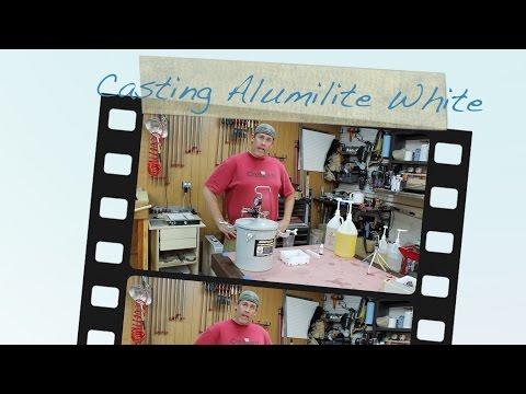 Casting Dyed Alumilite White Pen Blanks