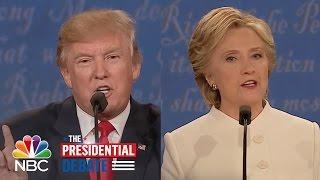 Donald Trump Calls Hillary Clinton A 'Nasty Woman'   NBC News
