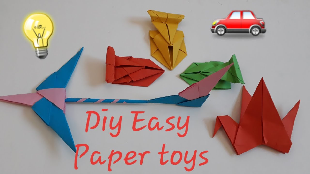 Very Easy Paper Toys l Origami paper toys easy/origami paper car easy