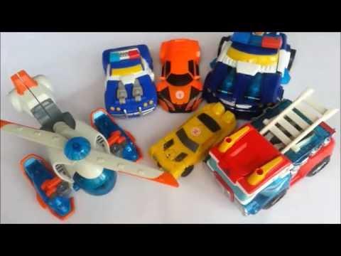 Colectie masini robot: masini sport robot, masini de politie robot, masina de pompieri