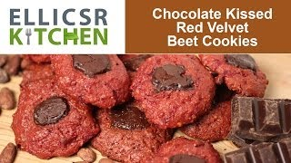 Chocolate Kissed Red Velvet Beet Cookies