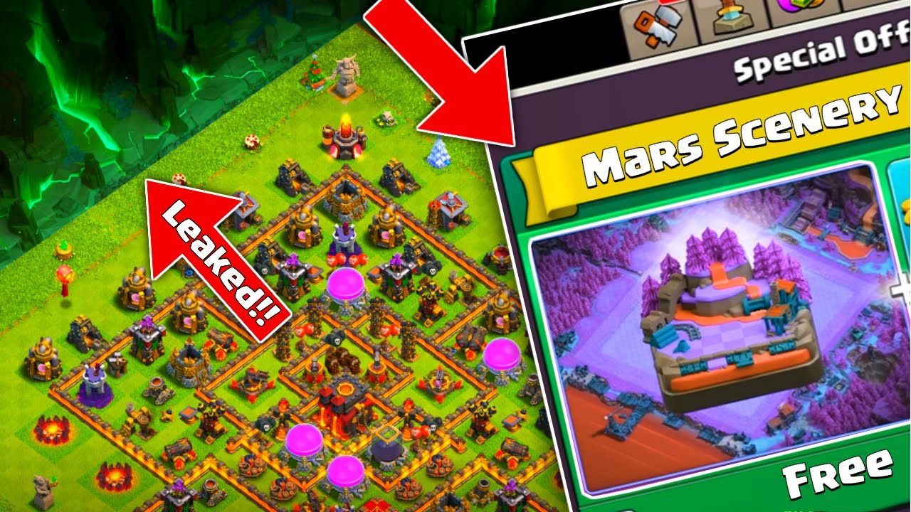 Clash of clans New Update 2020 | MARS SCENERY, COC EMOTES UPDATE AND MANY MORE....