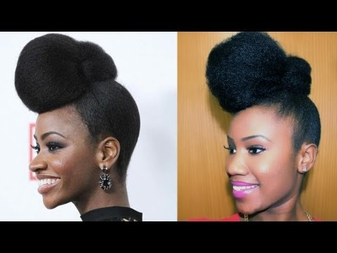 natural short hair style teyonah parris inspired updo on hair darico 6286 | hqdefault