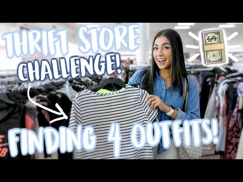 Thrift Store Shopping Challenge! Finding 4 Outfits at Goodwill! | Jeanine Amapola
