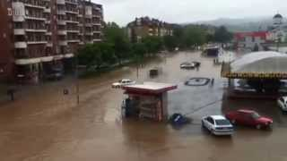 Početak poplave u Doboju 2014