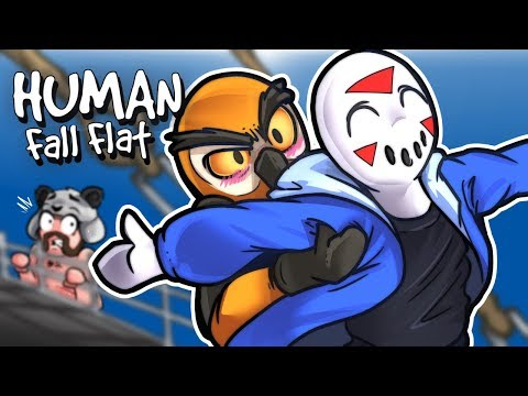 Human Fall Flat - CROSS THOSE WATERS! (Funny Moments)