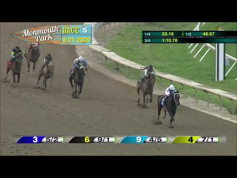 video thumbnail for MONMOUTH PARK 08-21-20 RACE 5