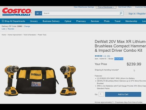 Father's Day Sale ONLINE Tool Deals Lowe's/Costco/Home Depot