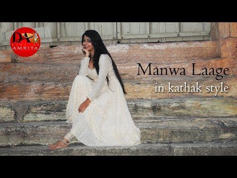 Manwa Laage | Kathak Style | Dance Cover  |  Happy New Year | Dancing Amrita