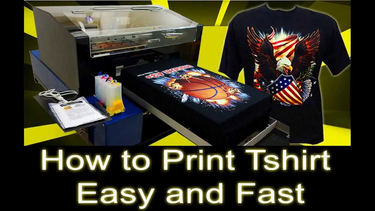 How to print t shirt easy and fast using dtg printer youtube for How to make t shirt printing