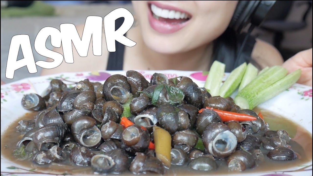 Asmr Escargot Eating Sounds Sas Asmr Thai English Sub