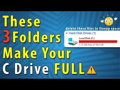These 3 Folders Make Your Computer C DRIVE Full | Delete These Files To FREE UP SPACE