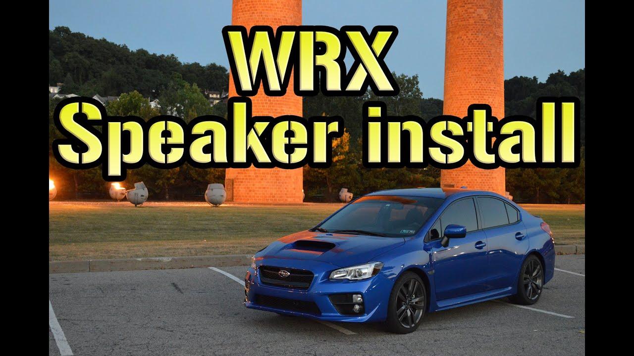 Installing Door Speakers In A 2017 Wrx
