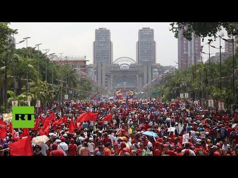 Resumen de las dos marchas, chavista y opositora, en Venezuela