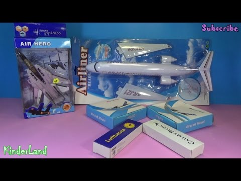 Airbus A320 A380 Boeing 747 Hello Kitty Malaysia airlines Cathay Pacific Lufthansa ARJ2 F15 toys