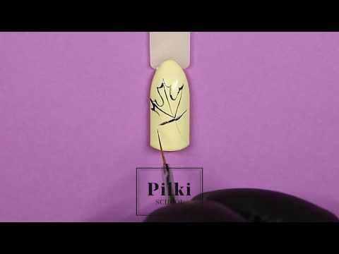 Как нарисовать осенний лист на ногтях