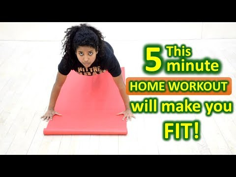 Best 5 Minute Home Workout for Beginners #8