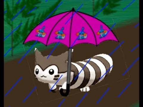 Furret Walk in Relaxing Rain (10 Hours) | Furret Walk ...