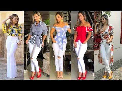 LOOKS ESPECTACULARES CON PANTALONES BLANCOS DE MODA Y TENDENCIA 2019/2020!!! TIPS E IDEAS