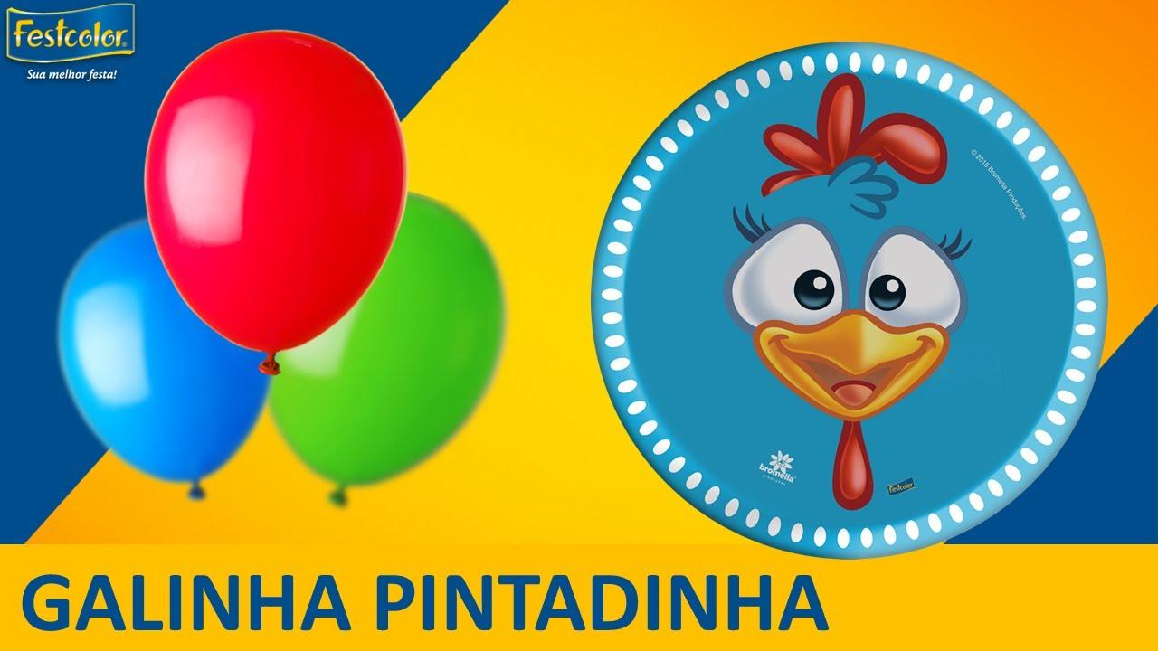 GALINHA PINTADINHA Sugest u00e3o de Decoraç u00e3o de Festa YouTube -> Decoração Festa Infantil Galinha Pintadinha Simples