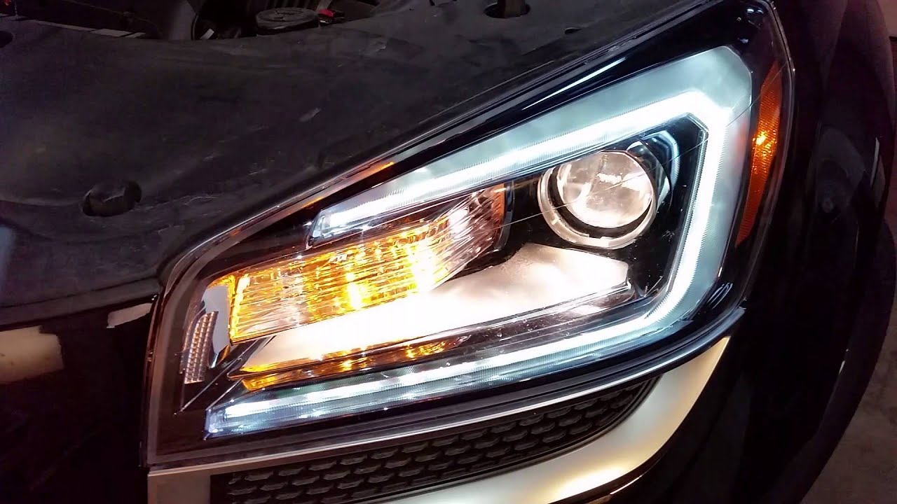 2007 2016 Gmc Acadia Suv Test Headlights After Changing Light Bulbs Low High Beam Turn Signal